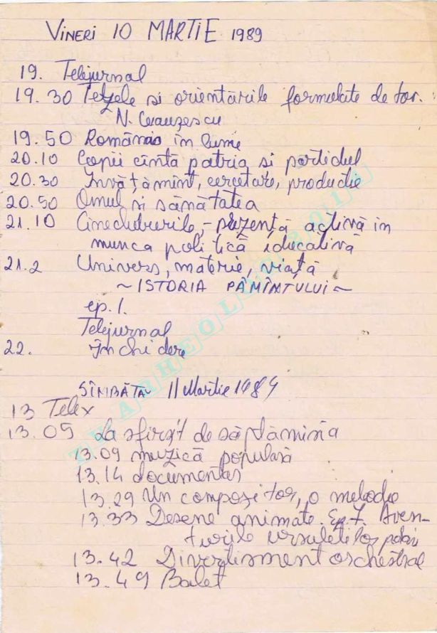 1989-03-10,11 Vineri, Sambata