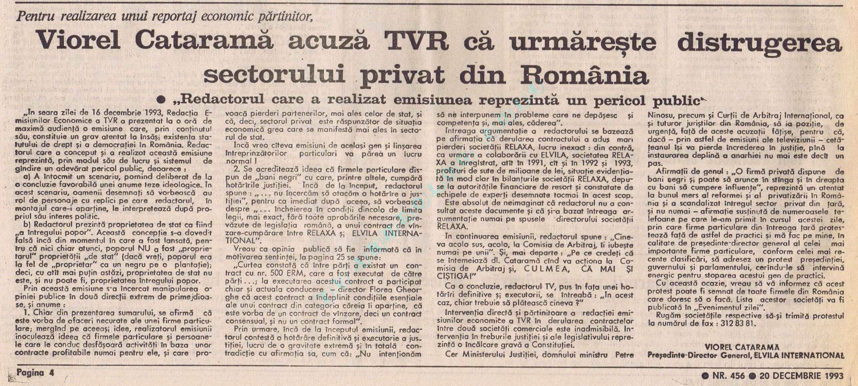 EZ 20 01 Catarama versus TVR